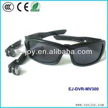 OEM service hd video recording sunglasses camera 8GB MV300 & video glasses with wireless camera
