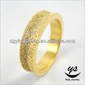 مصقول مملة قياس الاصبع الذهبي خاتم مطلي