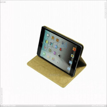 New products 2013 Fashion Canvas pattern PU Leather Case for apple iPad Mini tablet