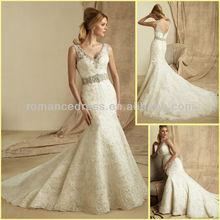 AC0027 Latest Designs Sexy Mermaid Strapless Beaded By Designers Ruffled Skirt Bride Wedding Dress