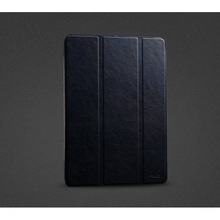 For iPad Air Leather Protective Case Cover!KLD Oscar Series Wake / Sleep Leather Protective Case Cover for iPad Air - Dark Blue