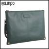 Fashion style business portfolio case cow leather clutch handbags A4 paper document case