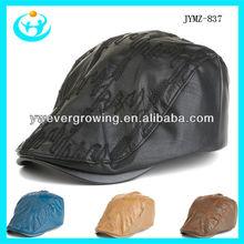 2013 high quality leather visor cap long peak cap outdoor hat long brim caps