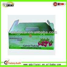Corrugated Strawberry/Orange/Apple Carton Boxes