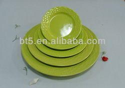 ceramic dinner pie plate and dish for hotel