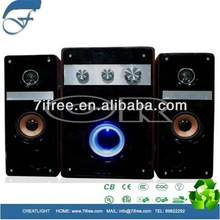 50W subwoofer speaker 2.1 channel support USB/SD/FM/DC/AC/LED/Remote control