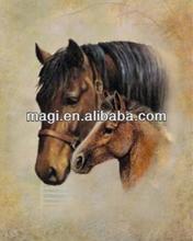 Hall Decor Antique Canvas Horse Painting