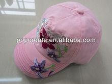 baby baseball cap with flower emboridery