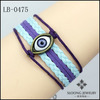 Unique Discount Evil Eye Bracelet Wax Cords and Imitation Leather Bracelet Special 2013