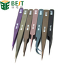 curved straight slanted fine point tweezer for mobile phone/laptop/computer repair