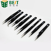 curved straight slanted fine point flat tip tweezers for mobile phone/laptop/computer repair