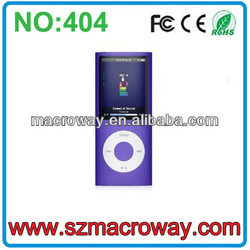 2013 Fashion 16gb touch screen mp4 player with camera Support camera,games,micro SD