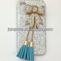 Leopard Tassel Blue Bow Women Girl Bling Diamond Crystal Case Cover For apple iphone 5c mini