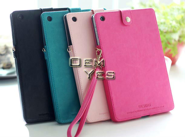 Wallet Leather Stand Smart Case Cover for iPad Mini