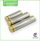 Ehpro Best seller 510 ecig, 2013 full mechanical mod Caravela with extra tubes 18650 /18500/18350 for choice