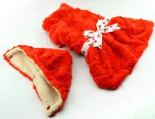 Fashion Dog Clothes Warm Supersoft plush Winter Dog Dress wholesale Orange [PTS-016A]