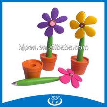 Flower Shape Plastic Pen with Holder, Decoration Pen for Promotional/Gift