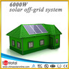 Off-Grid 6KW solar panels,controller,cable,inverter,batteries solar energy system