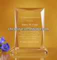 3d trofeo de cristal& premio de cristal placa, de cristal único rectángulo forma de adjudicación trophiesmh- nj0188