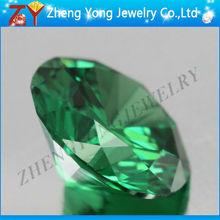 Round CZ Gemstone Diamond Green