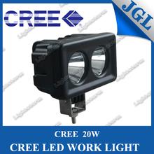 HOT!!!square shape 20w cree jeep led working light,led mini spot lights for all cars,spot/flood beam option