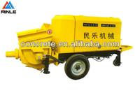 Trailer electric concrete conveying pump HBTS40-10-45