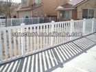 PVC white decorative outdoor security fencing