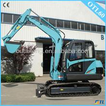 cinese terna escavatore idraulico con 6000kg peso per la vendita