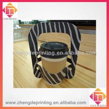 2013 black stripe simple paper coffee carrier