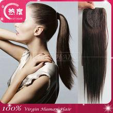 5A grade virgin weaving 100% human hair ponytail natural hair extension remy human hair ponytail