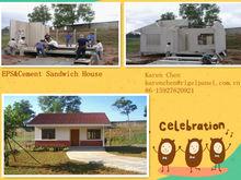 prefab house,prefabricated housing, small resort, simple villa eps cement wall panel