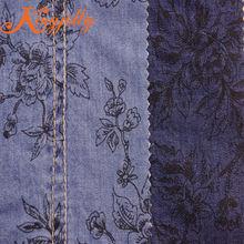 4.5oz pure cotton denim fabric with big flower stock lot