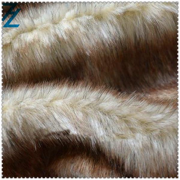 Wild cat shaggy faux fur fabric / arctic shaggy faux fur fabric