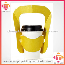 2013 yellow pure paper coffee carrier