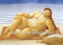 Botero famous nude art by handmade
