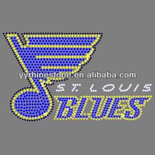 St Louis Blues hotfix rhinestone transfer iron on