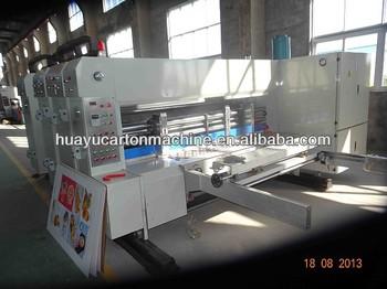 Auto Feeder: (HY-C) model automatic carton printing slotting die cutting machine