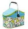 2014 New style 32 liter folding cooler basket high quality large picnic basket cooler