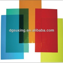 Crystal color pvc cover plastic sheet