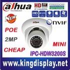 Outdoor security ip camera 2MP IR mini Dome Camera Default 3.6mm lens, 6mm optional