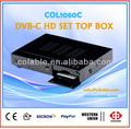 Dvb-c set top box, dvb-c hd set top box, dvb-c cable tv col1080c caja