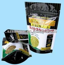 China machine manufacture Round bottom pet food bag/Stand up zip lock pet food bag for dog