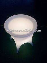 Outdoor LED baran tea table , led furniture table