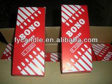 Bono brand 40g Big White Candles/ Household White Candle/ Velas/ Bougies/ mobile: 0086-18733129187