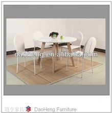 brushed aluminum dining table and chair