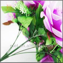 Purple artificial flowers bouquet wedding wall decorations
