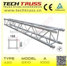 A20-QS10 aluminium square truss, lighting stage truss for show decorative