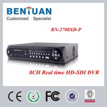 H.264 Full Real-time 8 Channels HD SDI DVR CCTV 1920*1080 1080P DVR