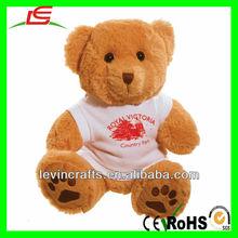 brown bear ted teddy stuffed bear with t-shirt