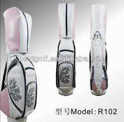China manufacturer Ladies' Golf Staff Bag With Elegant Design Pink Color Golf Bag
